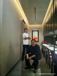Former Head Chef Akmal Anuar and owner Ignatius Chan; Iggy's