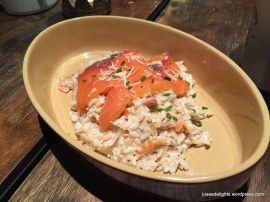 Smoked Salmon Brown Rice Risotto in Cream Sauce; Oldish