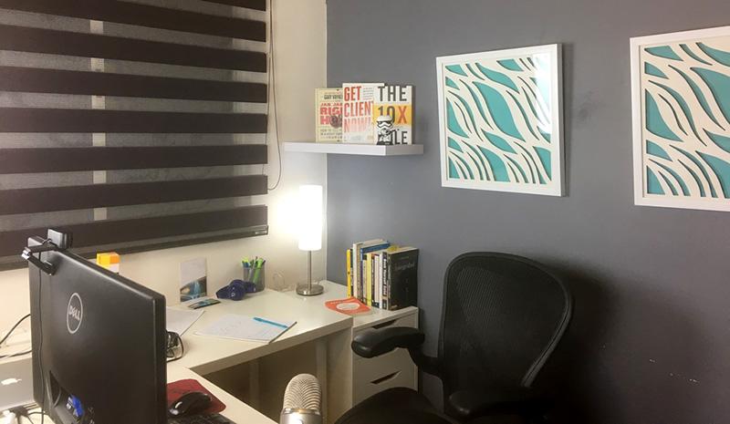 Esta es mi oficina, en mi casa