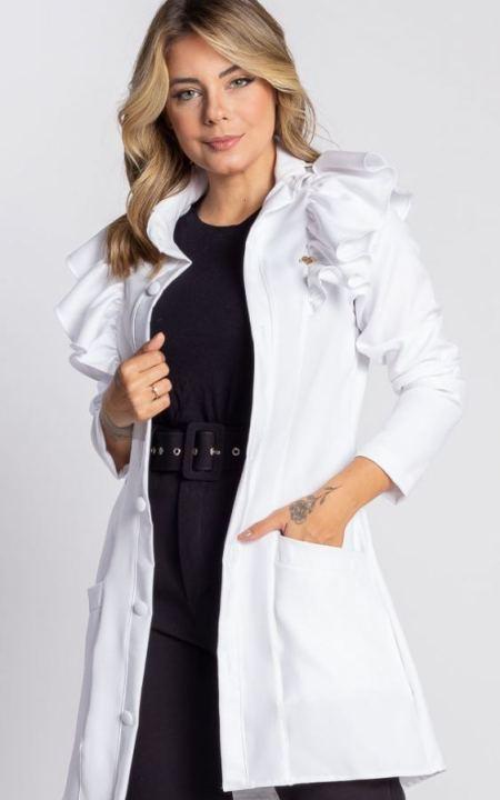 Jalecos chic scrubs hospitalar estética enfermagem odontologico fisioterapia medicos jussara nunes médico dentista odontologia feminino branco colorido ( (10)