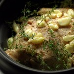 Thyme for Roasted Garlic Chicken (Crockpot or Oven)