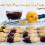 Honey Sweetened, Almond Orange Shortbread Cookies