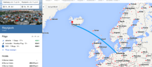 Darstellung Google Flight