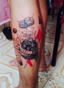Tattoo auf Wade