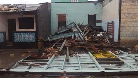 ein eingestürztes Haus