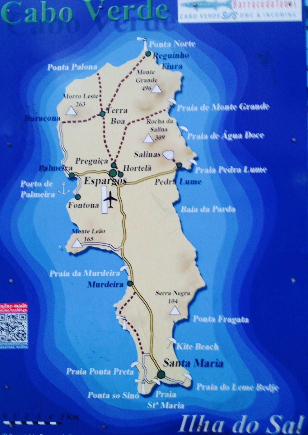 Sal Landkarte Kapverden