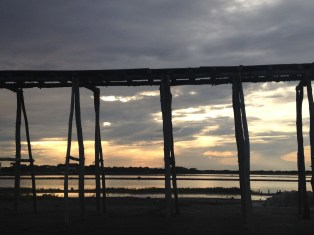 Salinas Sonnenuntergang Dominikanische Republik