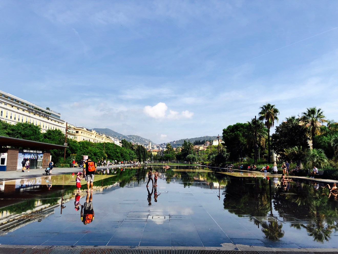 Park Promenade du Paillon in Nizza