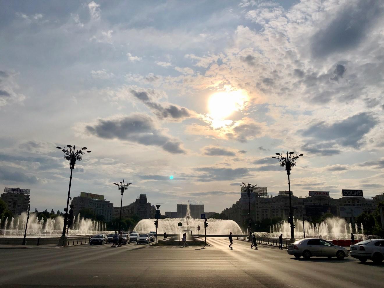 Springbrunnen Piata Unirii Bukarest Tipp