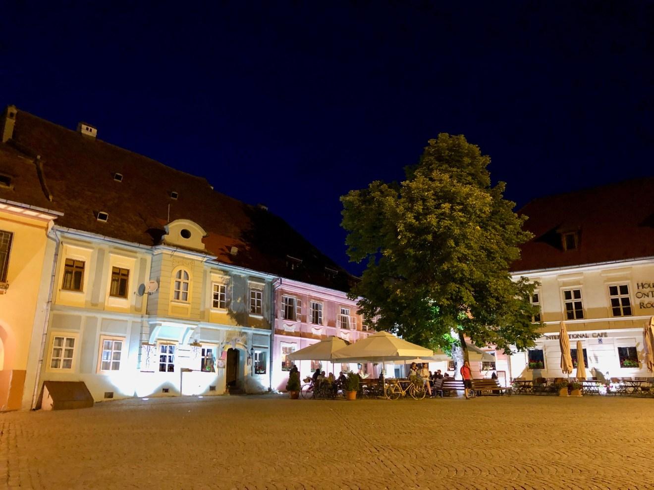 Sighesoara bei Nacht Rumänien