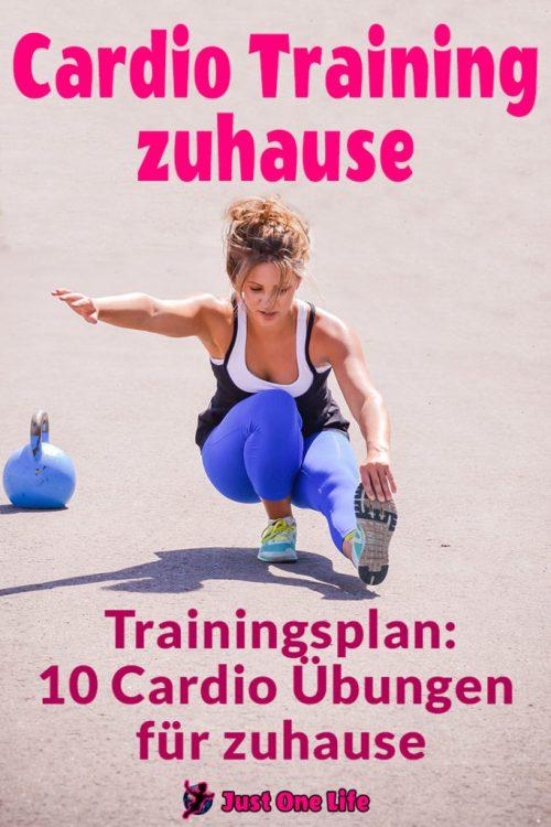 Cardio Training zuhause - Trainingsplan mit 10 Cardio Übungen für zuhause