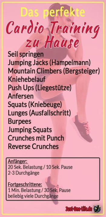 Cardio Training zuhause - Übungsprogramm mit 10 Cardio Übungen