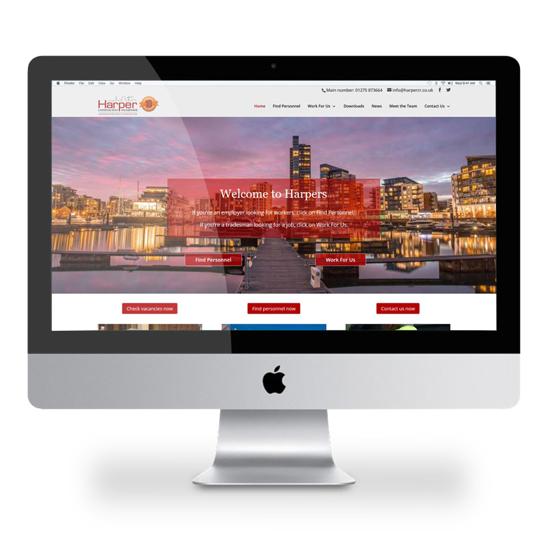Harpers website by Just Us