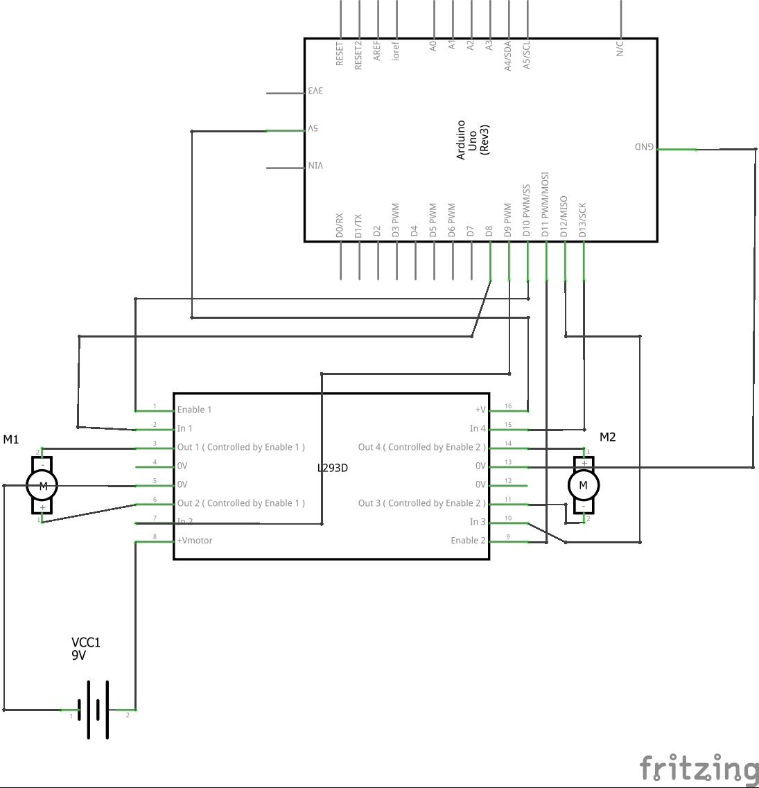 l293d motor driver circuit diagram simple light switch wiring impremedia