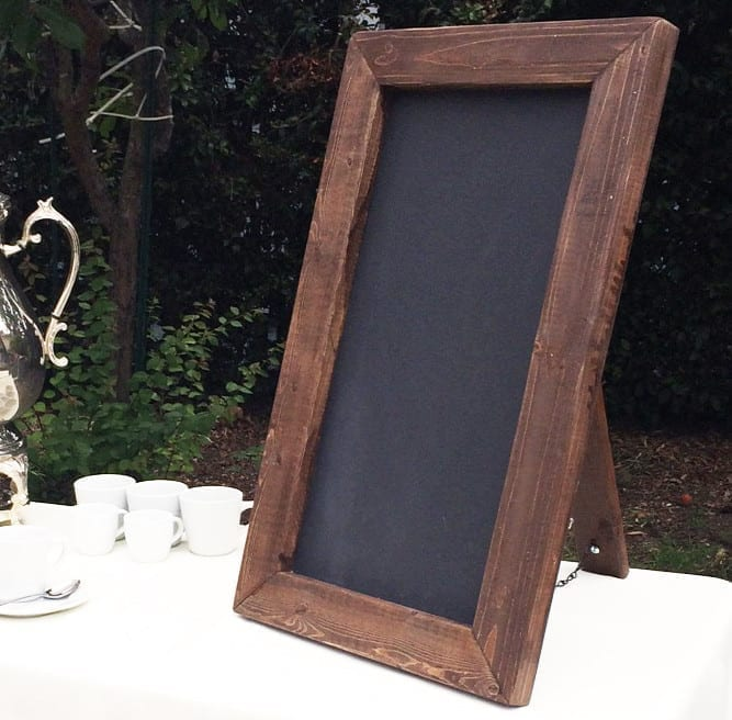 a frame chalkboard signs