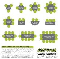 Linen Sizing Guide | Just 4 Fun Party Rentals