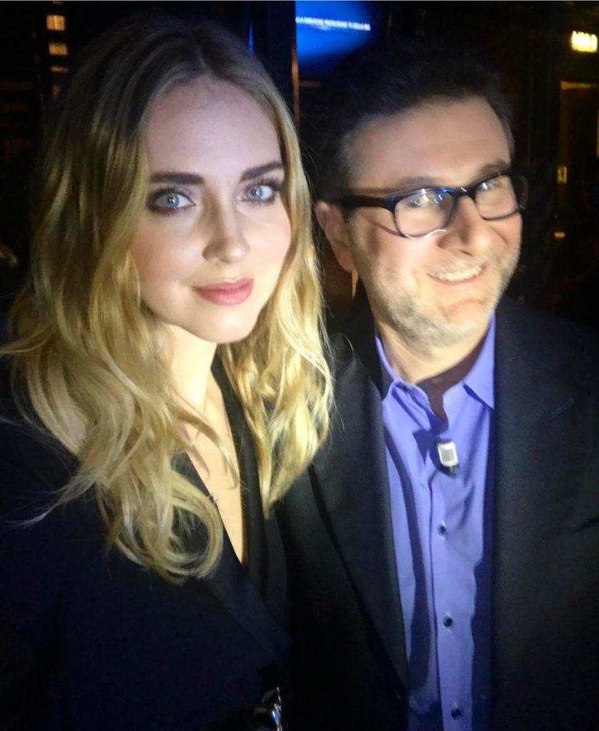 Chiara Ferragni e Fabio Fazio