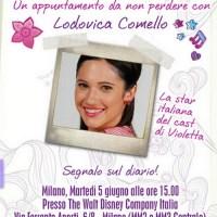 Lodovica Comello arriva a Milano il 5 giugno