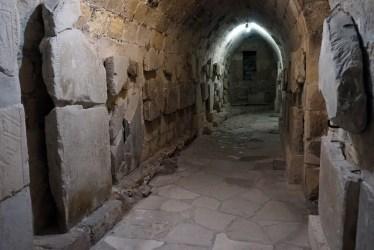 castle limassol hallway dark interior passageway levels within lower museum cyprus
