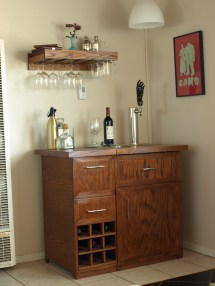 Bar with Kegerator Cabinet