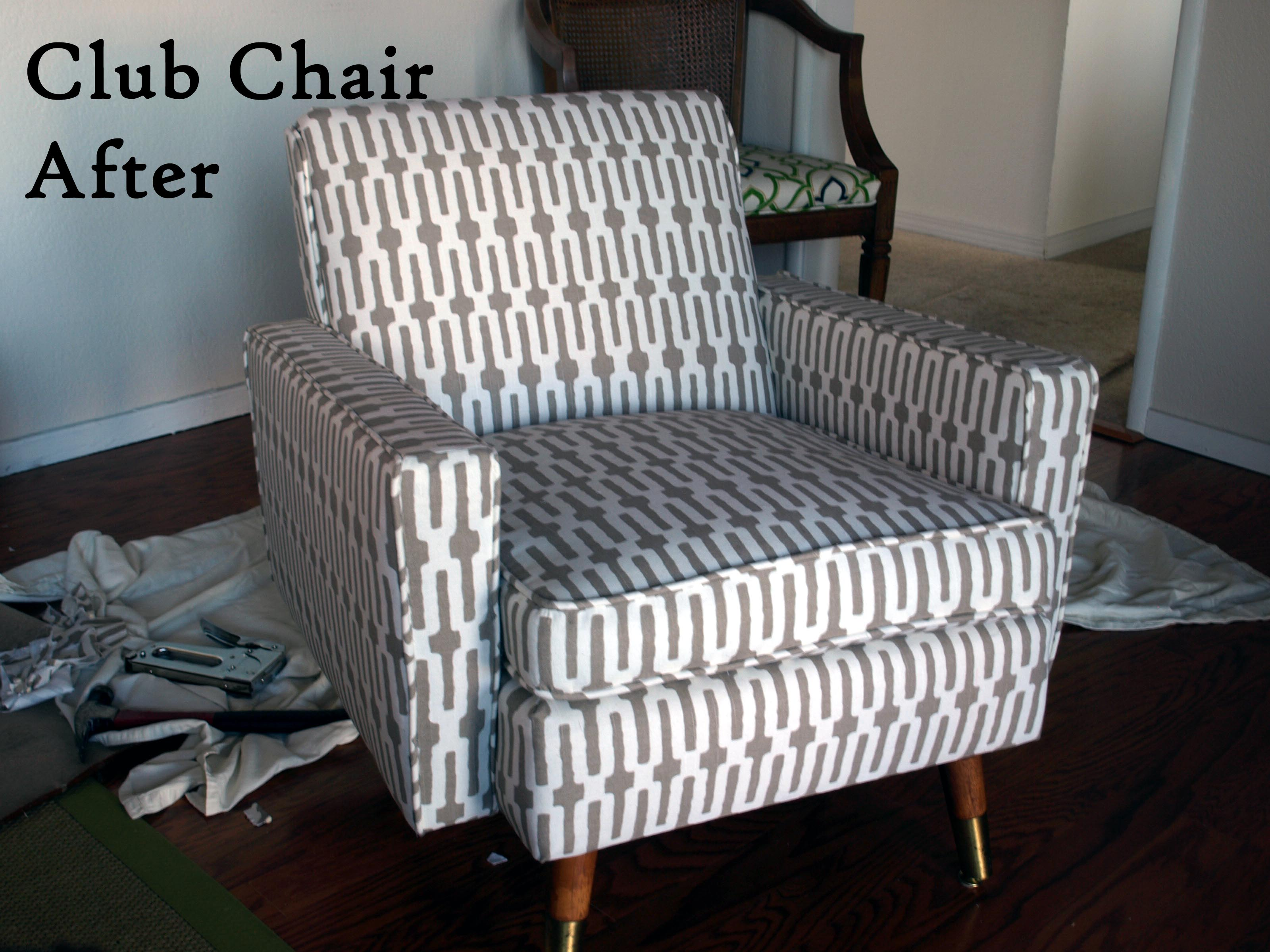 how to reupholster sofa arms consumer reports best bed club chair before and after just about home