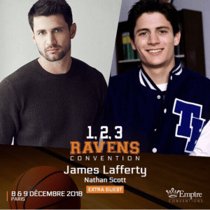 James Lafferty à la 1,2,3 Ravens de Empire Conventions