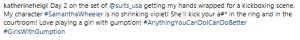 Katherine Heigl sur le tournage de la huitième saison de Suits