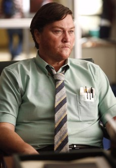 "GLEE: Coach Beiste (Dot-Marie Jones) transforms herself into Coach Sheldon Beiste in the ""Transitioning"" episode of GLEE airing Friday, Feb. 13 (9:00-10:00 PM ET/PT) on FOX. ©2015 Fox Broadcasting Co. CR: Greg Gayne/FOX"