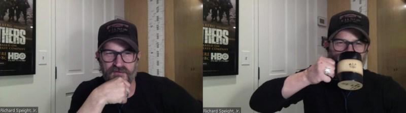 Richard Speight lors de la convention virtuelle Supernatural de People Con