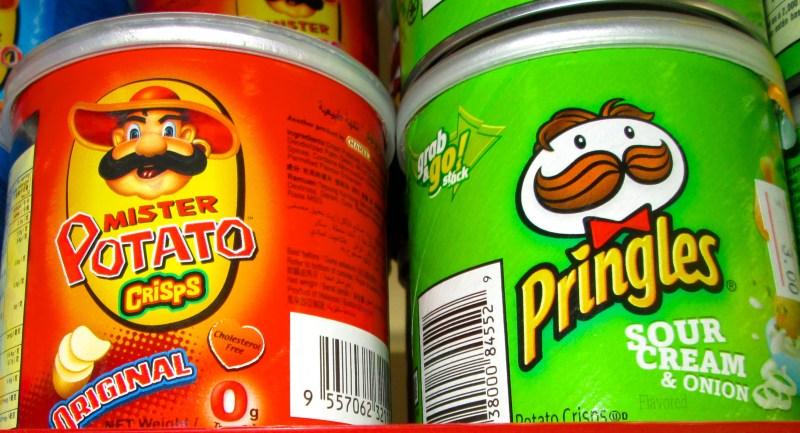 Fake and real Pringles chips