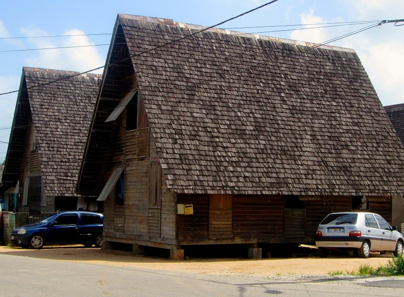 Typical house in French Guiana