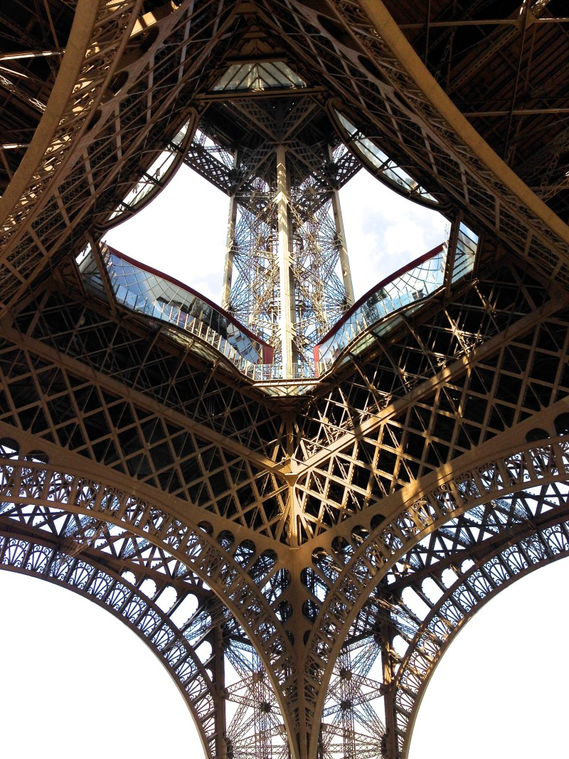 View of Eiffel Tower from the base