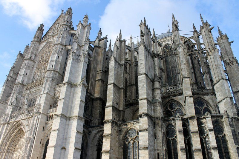 Side view of Beauvais Cathedral