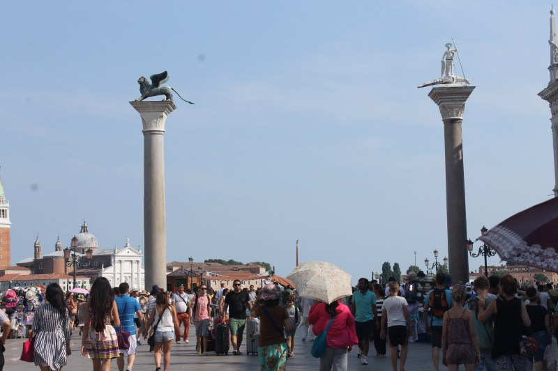 Versus a crowded Venice in July
