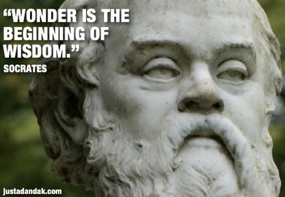 socrates wonder quote