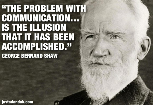 George Bernard Shaw communication quote