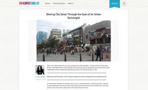 Sharing City Seoul Through the Eyes of an Urban Sociologist