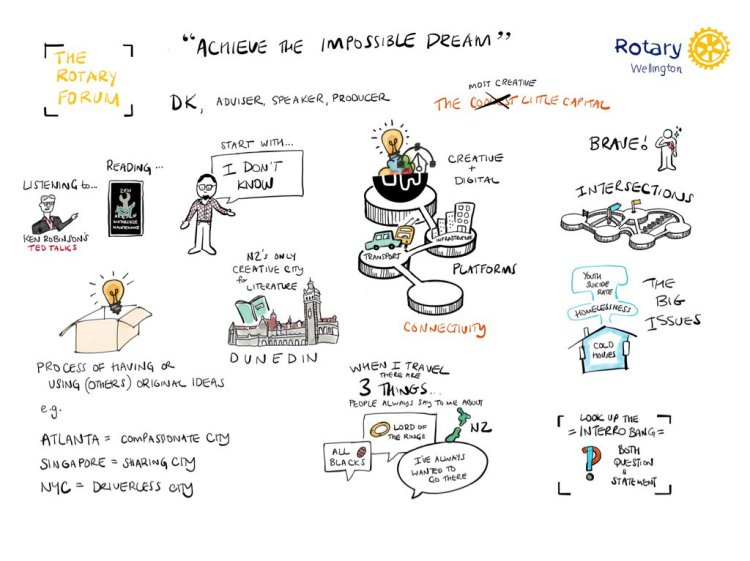 rotary wellington forum DK sketch note