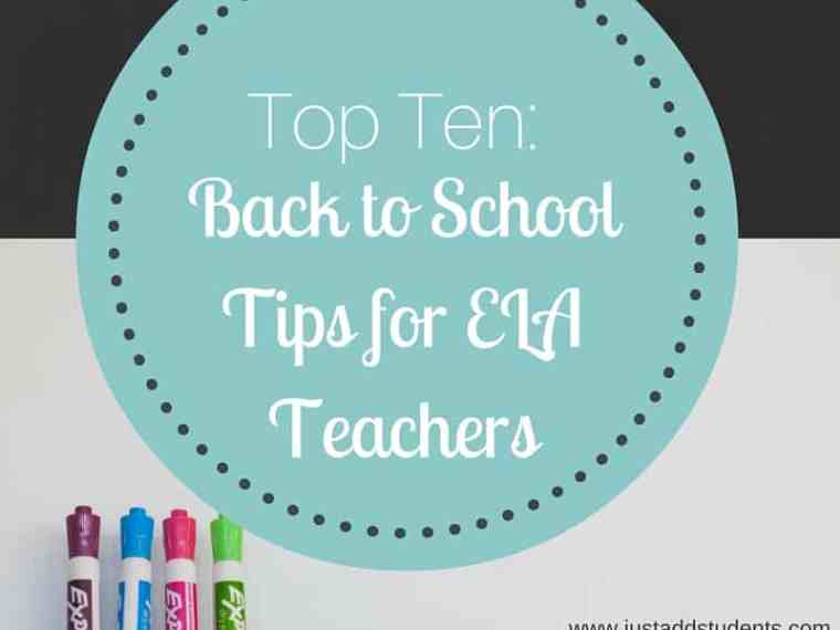 Get ready for school with this top ten list!