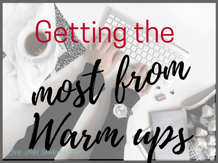How to get the most from writing warm ups