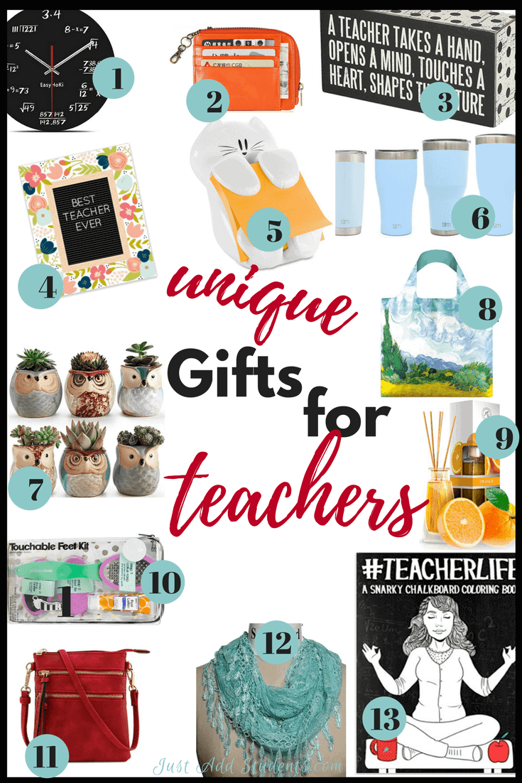 Here are 13 unique gifts for teachers that are fun, memorable, and sure to be appreciated!