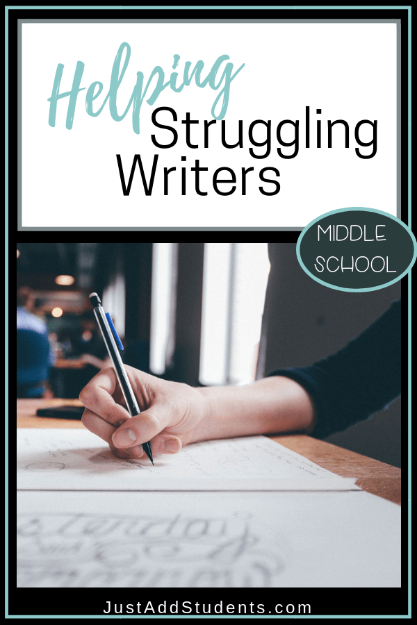 What are the best ways to help struggling writers?  Discover multiple ways to read middle school students who struggle with writing.