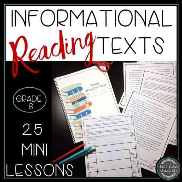 Use these 25 mini lessons to teach reading informational texts.
