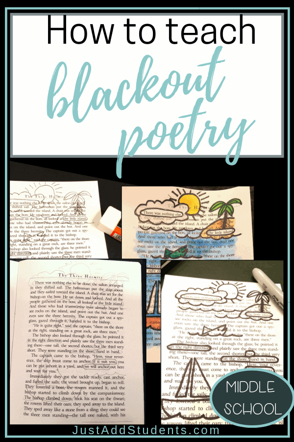 Teach blackout poetry to reinforce literary elements like theme, diction, tone, figurative language, and word choice.  Fun and creative!