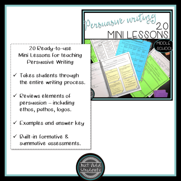 Persuasive Writing Mini Lessons