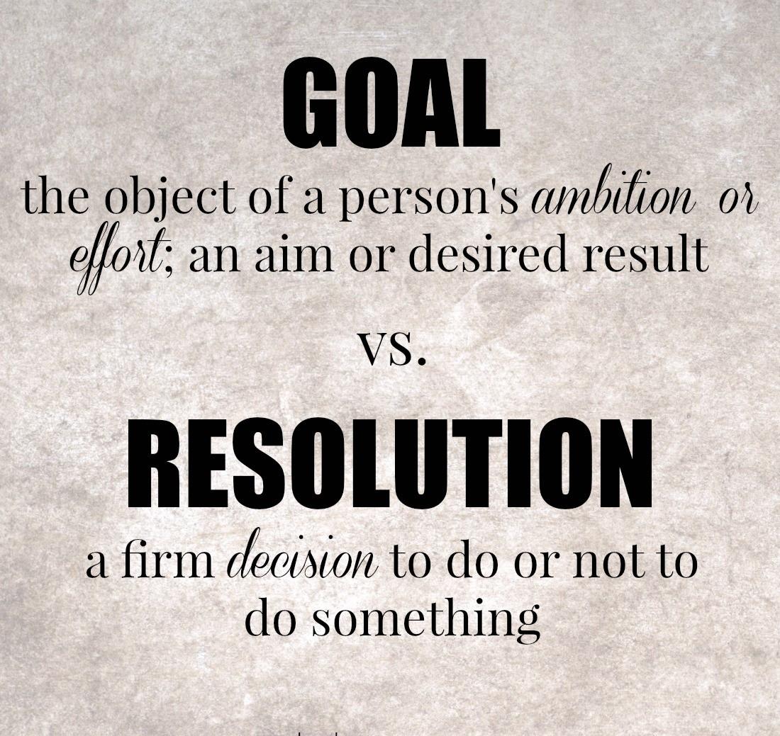 Not Resolutions But Goals Justaddtea