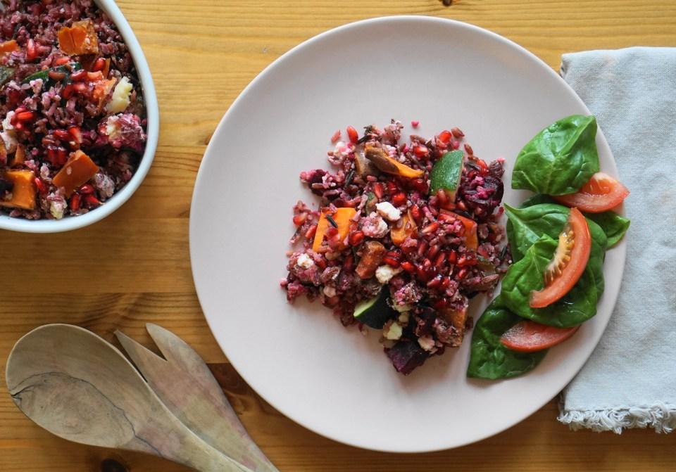 Rice with roast veg1