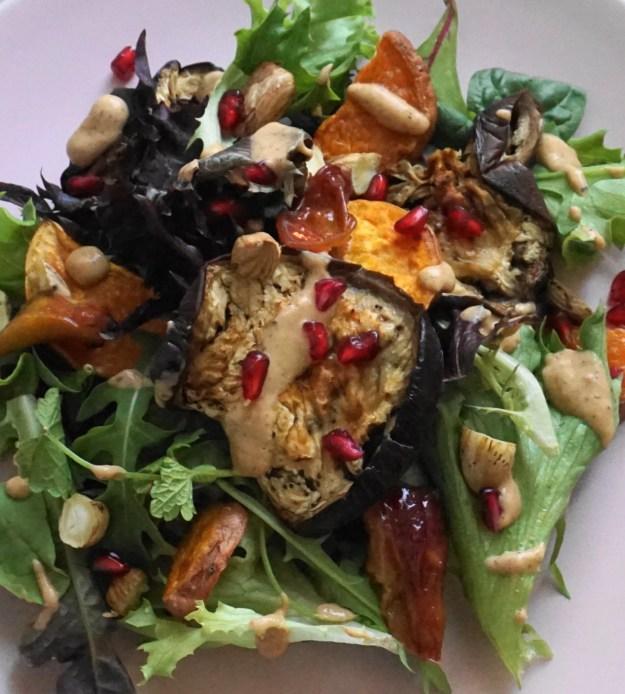Roasted veg salad kiwi dressing3