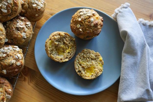 Mango muesli muffins plate 1