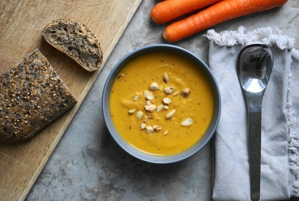 Carrot almond soup 1